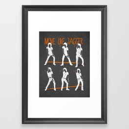 Move Like Jagger 2 Framed Art Print