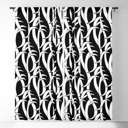 Abstract snakes pattern black and white Blackout Curtain
