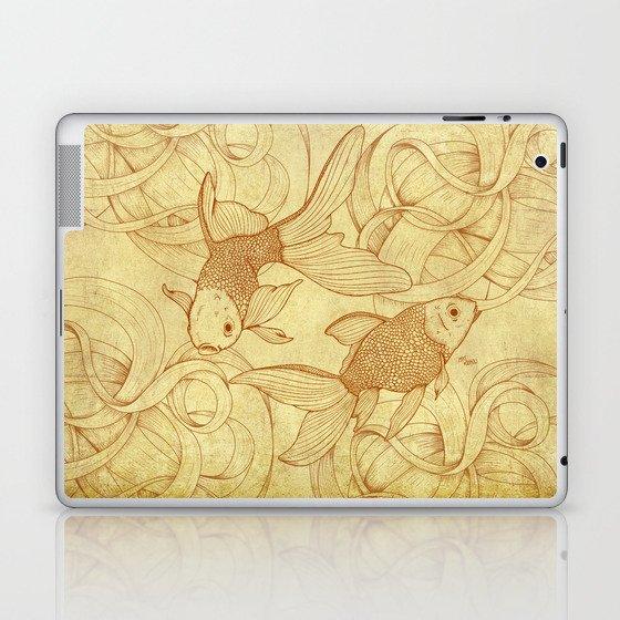 Vintage Goldfishes  Laptop & iPad Skin