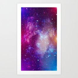 Pink Galaxy Painting Art Print