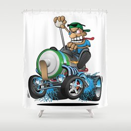 Hot Rod Electric Car Shower Curtain