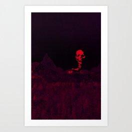 Aloft A Mountain [RED] Art Print
