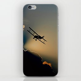 Double Decker Propeller Plane iPhone Skin