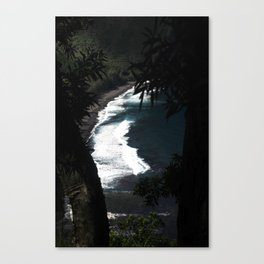 Black Sands of Hawaii Canvas Print
