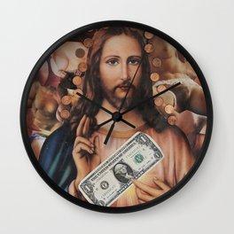 Jesus loves sex Wall Clock