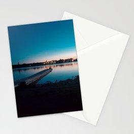 Fredericton Skyline at Night Stationery Cards