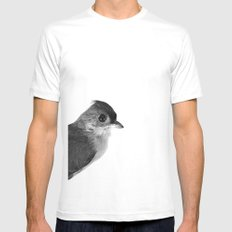 Natural History Bird Photograph - Tufted Titmouse Mens Fitted Tee White MEDIUM