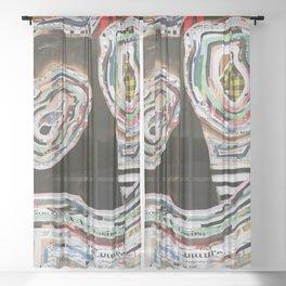 Time Traveler Couple Sheer Curtain