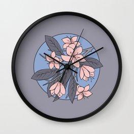Sakura Branch - Rose Quartz + Serenity Wall Clock