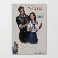bioshock infinite Canvas Prints featuring Bioshock Infinite Vigor Poster by Camila Vielmond