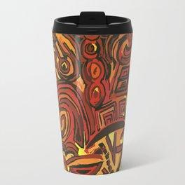 Orange Symbols Travel Mug
