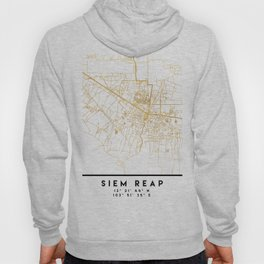 SIEM REAP CAMBODIA CITY STREET MAP ART Hoody