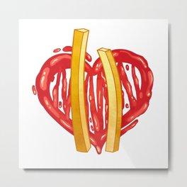 French Fries Love Metal Print
