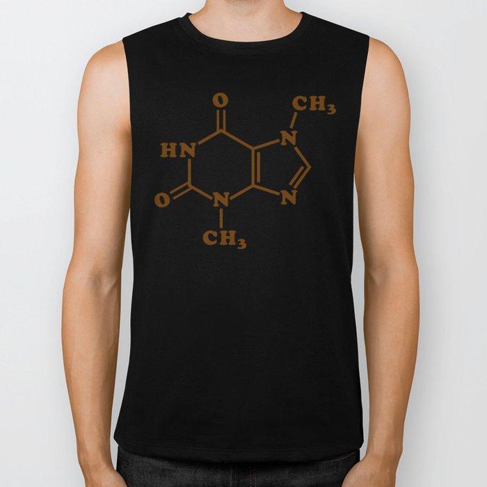 Chocolate Theobromine Molecule Chemical Formula Biker Tank
