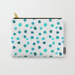 Minimal Abstract Dots Blue Carry-All Pouch