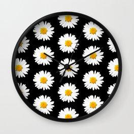 Daisy Pattern - Hipster Wall Clock