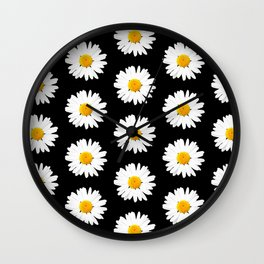 Daisy Pattern - Hipster Wall Clock