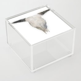 Bull Skull Waterpainting Acrylic Box