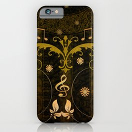 Music, clef and key notes iPhone Case