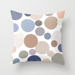 Cool Circle Palette Throw Pillow