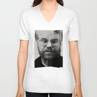 actor V-neck T-shirts featuring R.I.P Philip Seymour Hoffman by David