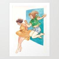 australia Art Prints featuring Australia by Burdge