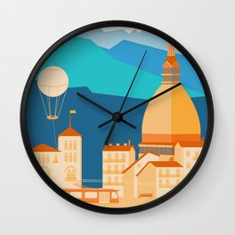 Turin Skyline Wall Clock