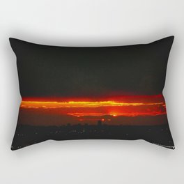 There's a Feeling I Get When I Look to the West #3 (Chicago Sunrise/Sunset Collection) Rectangular Pillow
