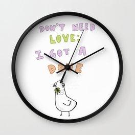Loveless Dove Wall Clock