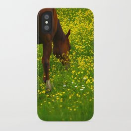 Enjoying The Wildflowers iPhone Case