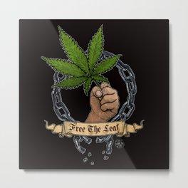 Free The Leaf Metal Print