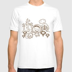 Fall in the Forest MEDIUM Mens Fitted Tee White