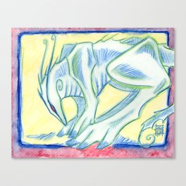 Green Walker Canvas Print
