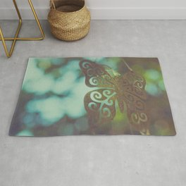 Bokeh With Butterfly Wings Rug