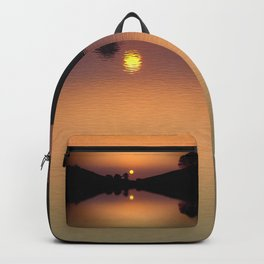 The lake that dreams are made of. Backpack
