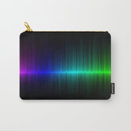 Rainbow Radio Waves Horizontal Line Vertical Stripes - Artwork Carry-All Pouch