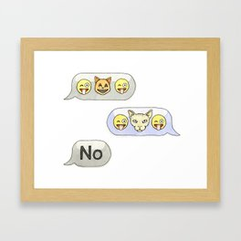 Texting CATastrophe Framed Art Print