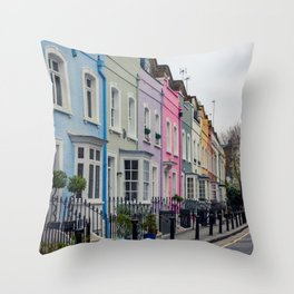 Chelsea Row Houses home of George Smiley in Chelsea London England Throw Pillow