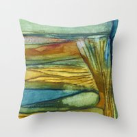 swimming Throw Pillows featuring Swimming by Mary Ross: mary made