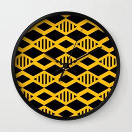 Black and Yellow geometric background #society6 #decor #buyart #artprint Wall Clock