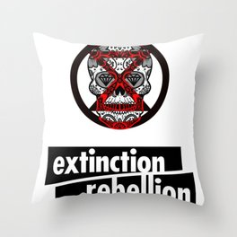 Extinction Rebellion Throw Pillow