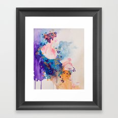 Bubble Girl Framed Art Print