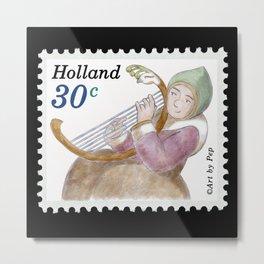 Bird Harp Metal Print