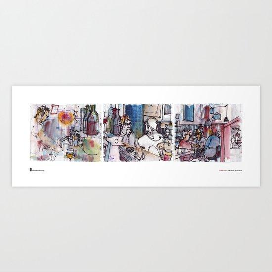 "Rolf Schröter, ""Linde Tryptich"" Art Print"