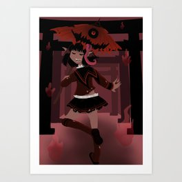 Kasa-obake Monster Art Print