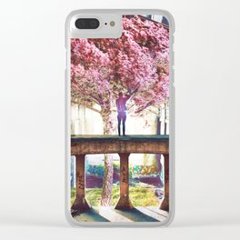 Abandoned Tree in an Abandoned Warehouse Clear iPhone Case
