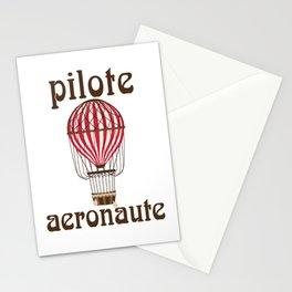 Retro Ballooning Balloonist Hot Air Balloon Pilot Gift Stationery Cards