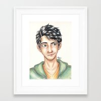 percy jackson Framed Art Prints featuring Percy Jackson by Sandra