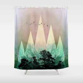 TREES under MAGIC MOUNTAINS IV Shower Curtain