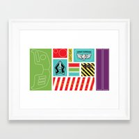 buzz lightyear Framed Art Prints featuring TOY STORY : BUZZ LIGHTYEAR STICKERS KIT by DrakenStuff+